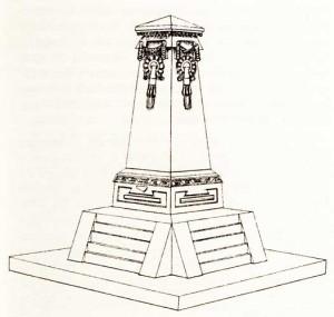 Monumento conmemorativo proyectado para Tepoztlán por Francisco Rodríguez.