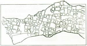Sector de alta densidad habitacional en las ruinas de Loma Rica, Catamarca (Planta).