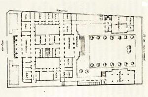 Plano de relevamiento efectuado en 1904 con los cambios en el proyecto original y las modificaciones posteriores