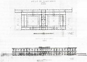 Planta general y fachada principal