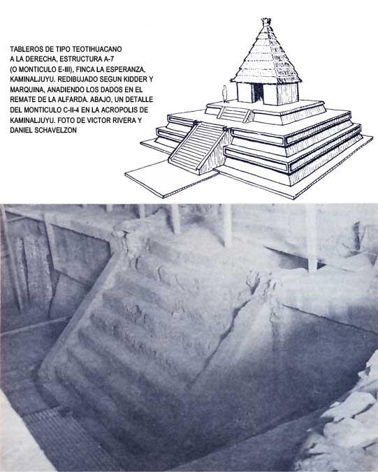 Tableros de tipo teotihuacano