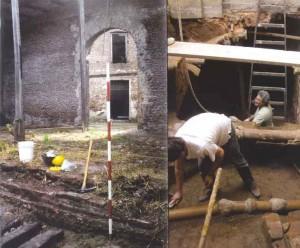 Dos momentos distintos de las excavaciones presentadas en este trabajo.