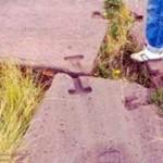 Detalle del sistema para unir piedras usado en Tiwanaku