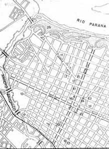 plano de la ciudad de paraná año 1880