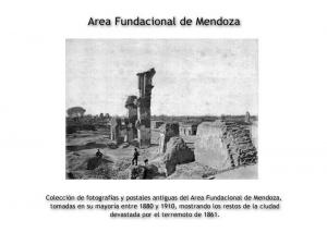 Colección de fotografías y postales antiguas del Area Fundacional de Mendoza